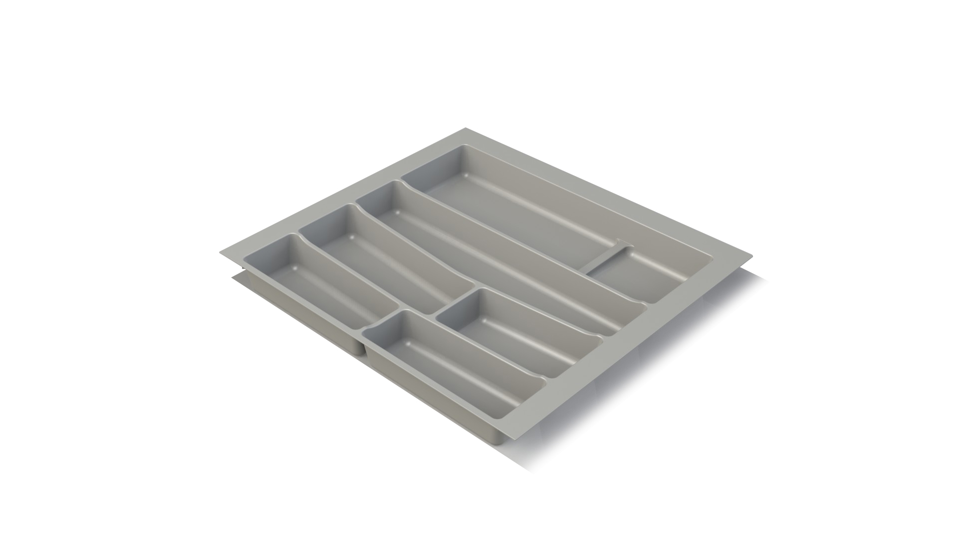 Premium Grey Cutlery Insert for 600mm wide Drawer for Kitchen
