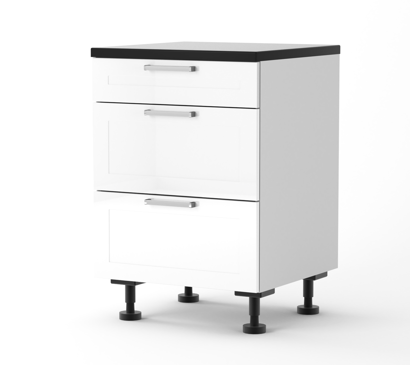 Rhodes - 600mm wide Three Drawer Base Cabinet
