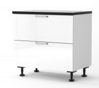 Rhodes - 900mm wide Two Drawer Base Cabinet with Top Hidden Drawe