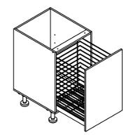 500mm wide Single Large Basket Cabinet