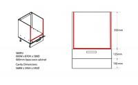 Oven Heat Deflectors Approximate Dimensions