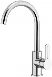 DELTA - Single lever sink mixer 90° with high movable spout - Chr