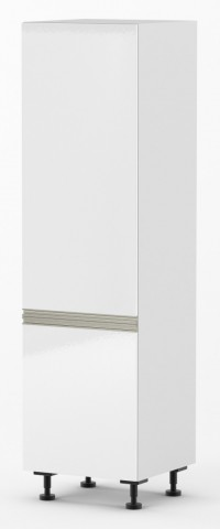 Venice - 600mm wide Pull-Out Pantry Cabinet - Venice Gloss White