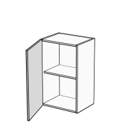 Body Diagram for Single Door Wall Cabinet