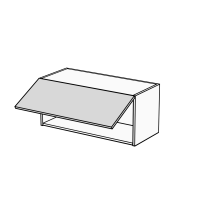 Body Diagram for Wide Horizontal Wall Cabinet