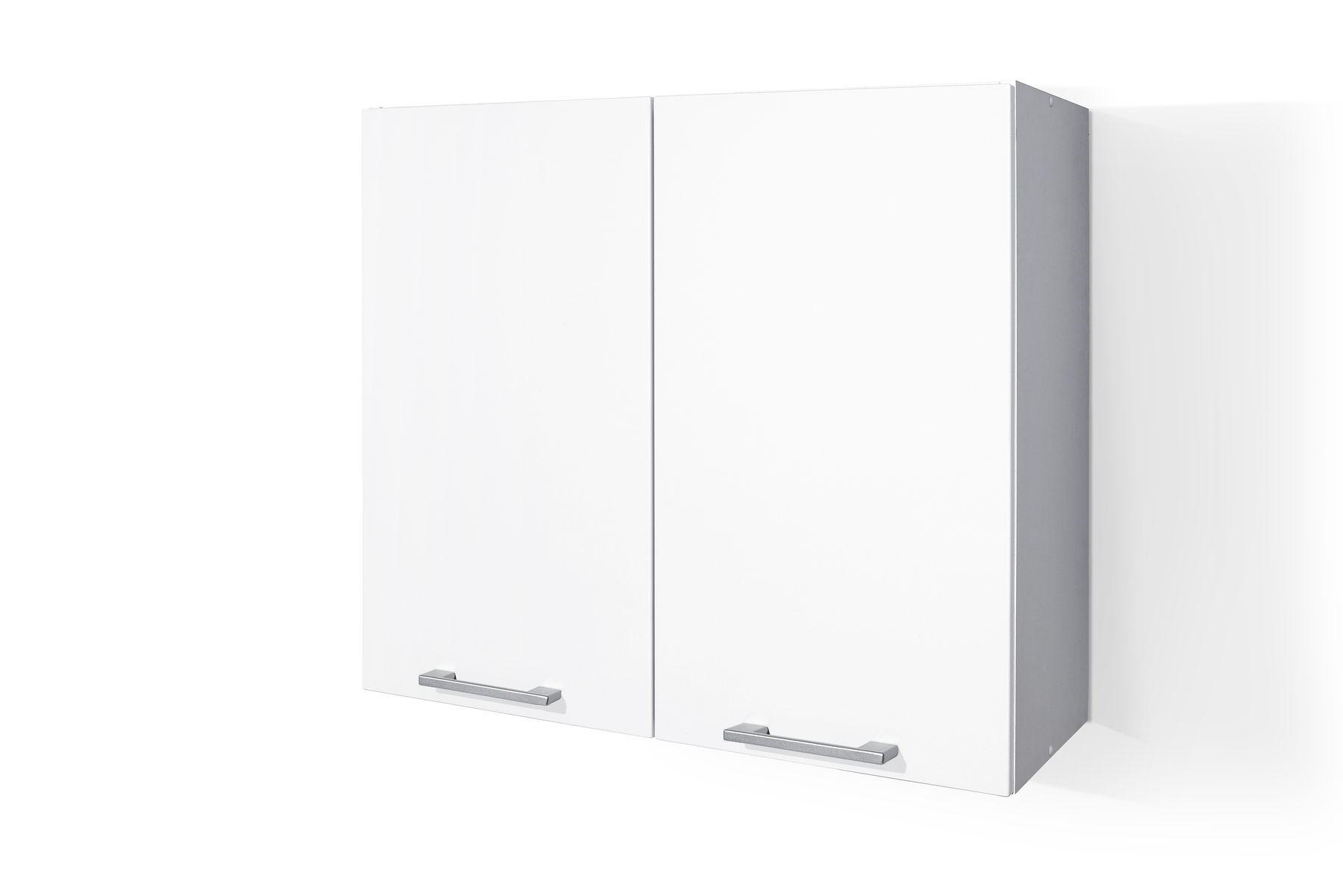 PVC Satin White Wall cabinet W80 for Kitchen