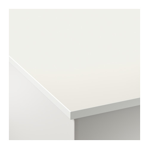 White and Black Bench top - White on Top for Kitchen