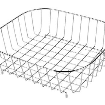 Metal Draining Basket for Rectangle Bowl Sink in Kitchen