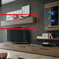 Horizontal Wall Cabinet for Entertainment Unit  for Living Room
