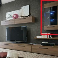 Wall Glass Cabinet for Entertainment Unit for Living Room - Gaya
