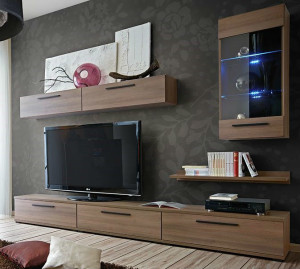 European Made Entertainment Unit Set - Gaya - for Living Room