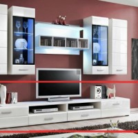 European Made Base Cabinet WU 2810 (White) for Living Room