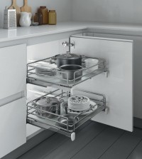 Inoxa -  Pull-Out Basket for 600mm Wide Base Cabinet