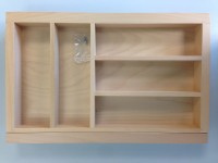Beechwood Cutlery Insert 400-600mm Wide  for in Kitchen Drawers
