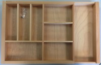 Beechwood Cutlery Insert 600-1000mm Wide Extended for in Drawers