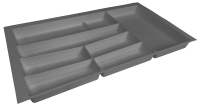 Premium Graphite Cutlery Insert for 900mm Wide Drawer