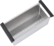 Stainless Steel Draining Basket with Rubber Handles - 984001 for