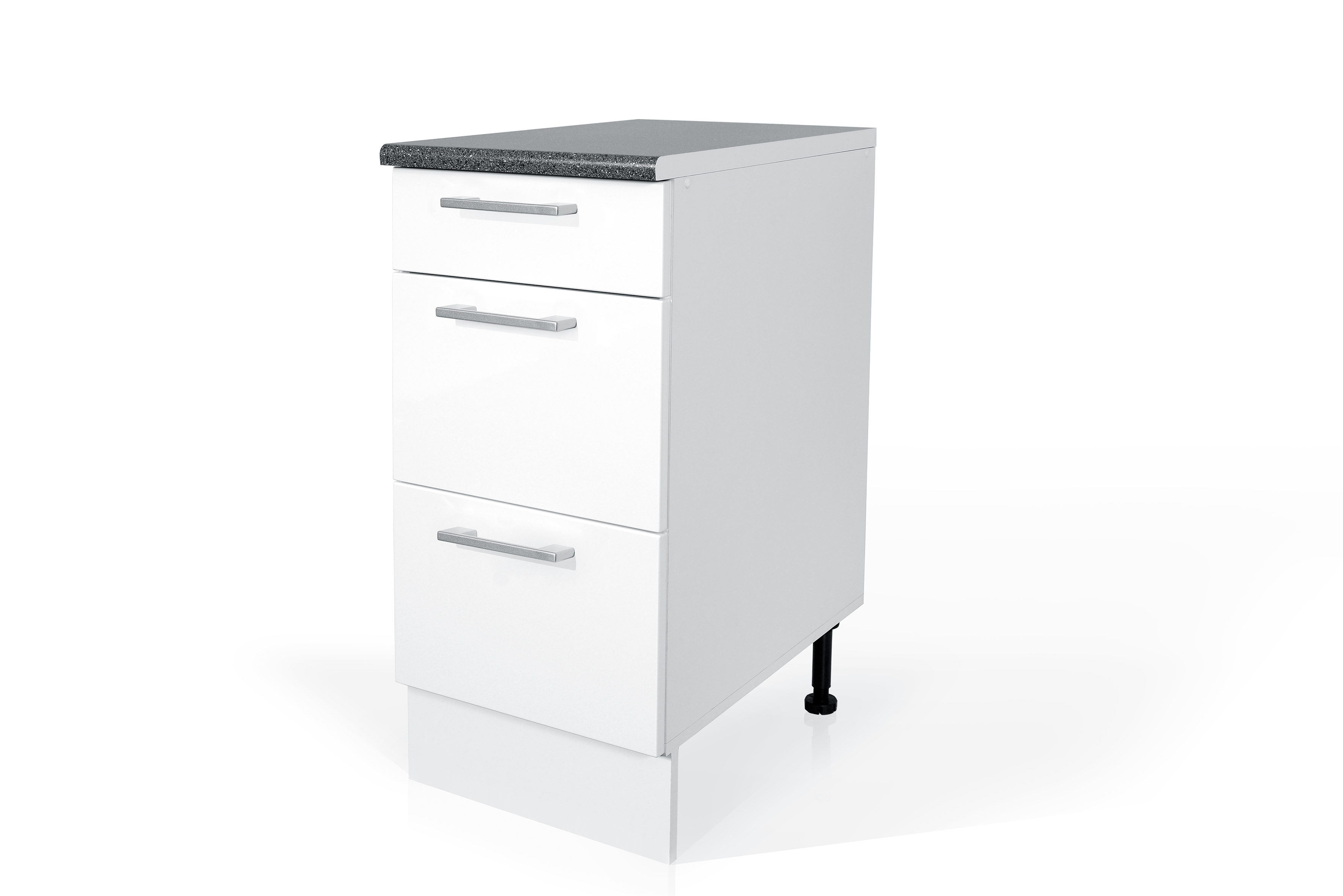 PVC Satin White Base drawer cabinet S40SZ3 for kitchen