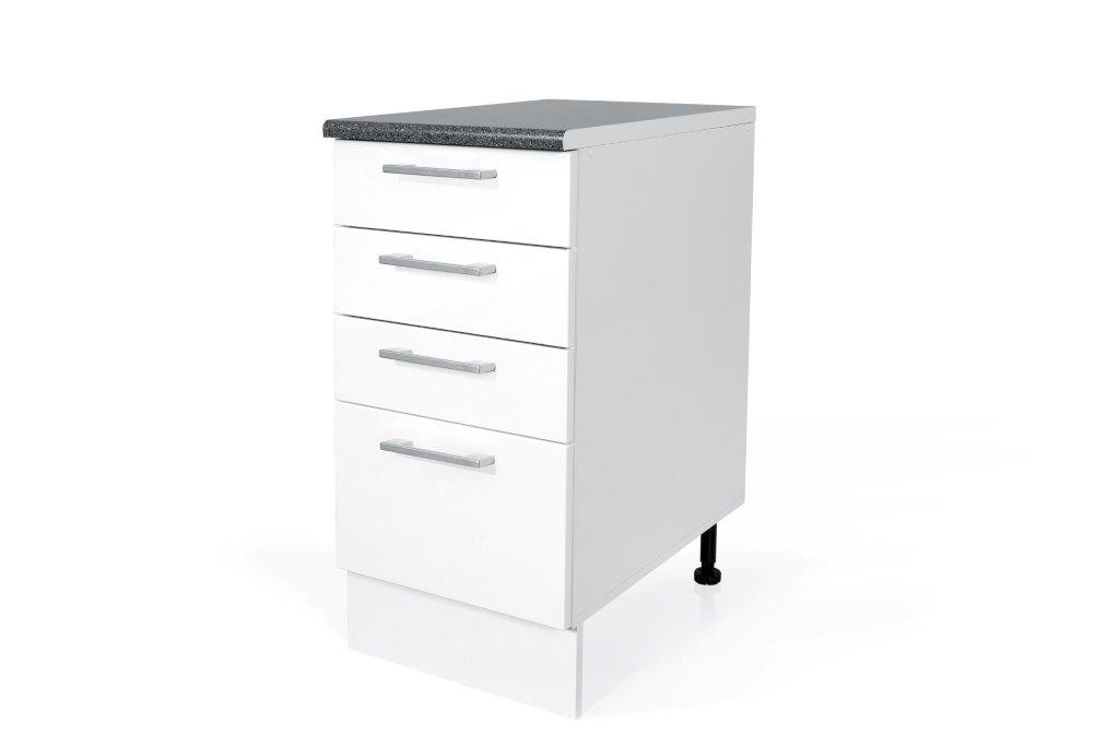 High Gloss White Base drawer cabinet S45SZ4 for kitchen