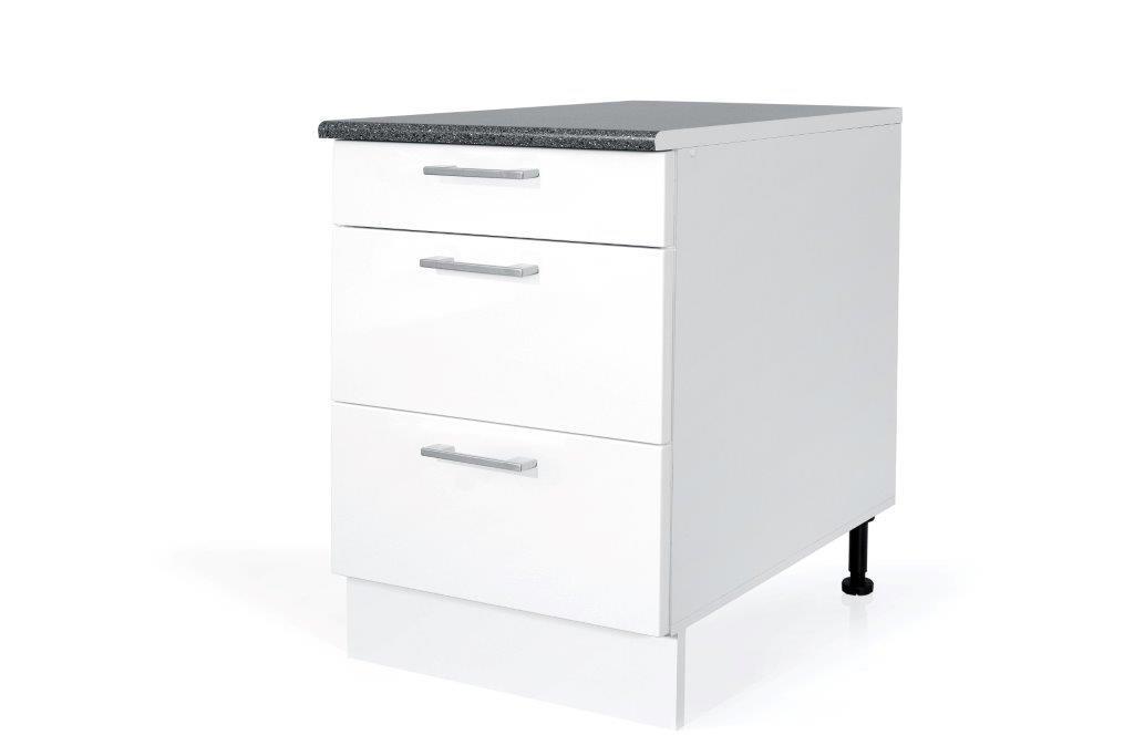 PVC Satin White Base drawer cabinet S60SZ3 for kitchen