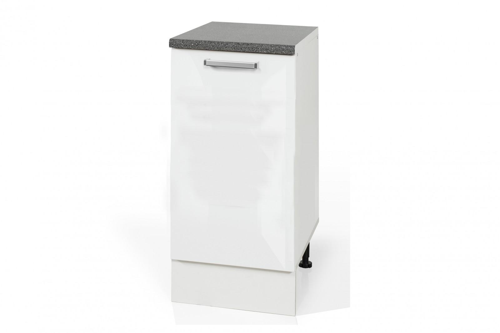 High Gloss White Base rubbish bin cabinet S401KO for kitchen