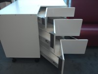 HGW Corner drawer cabinet S100/100SZ3A Drawers Open for Kitchen