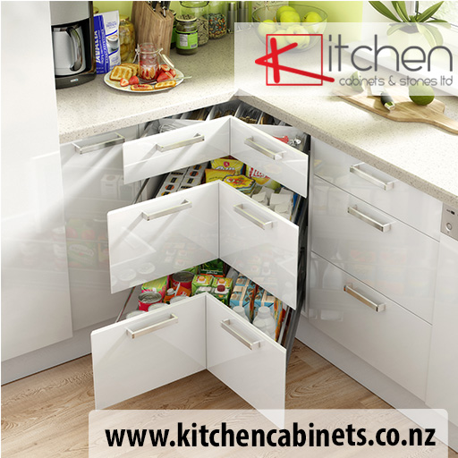 High Gloss White Corner drawer cabinet S100/100SZ3A for kitchen