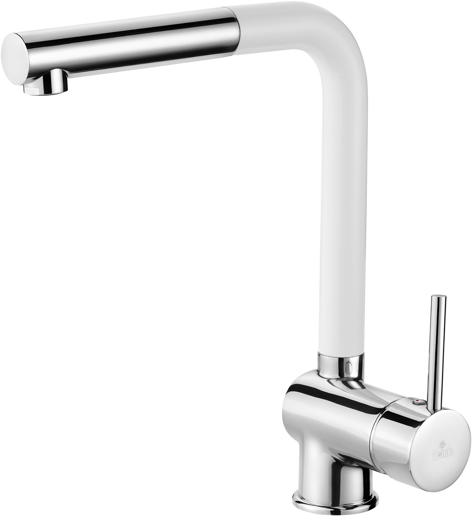 Chrome/White Finish Tap