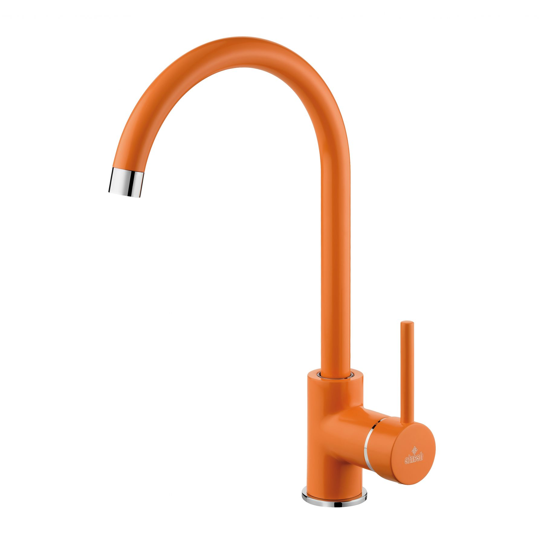 Milin Orange Standing Sink Mixer Tap with U Spout for Kitchen