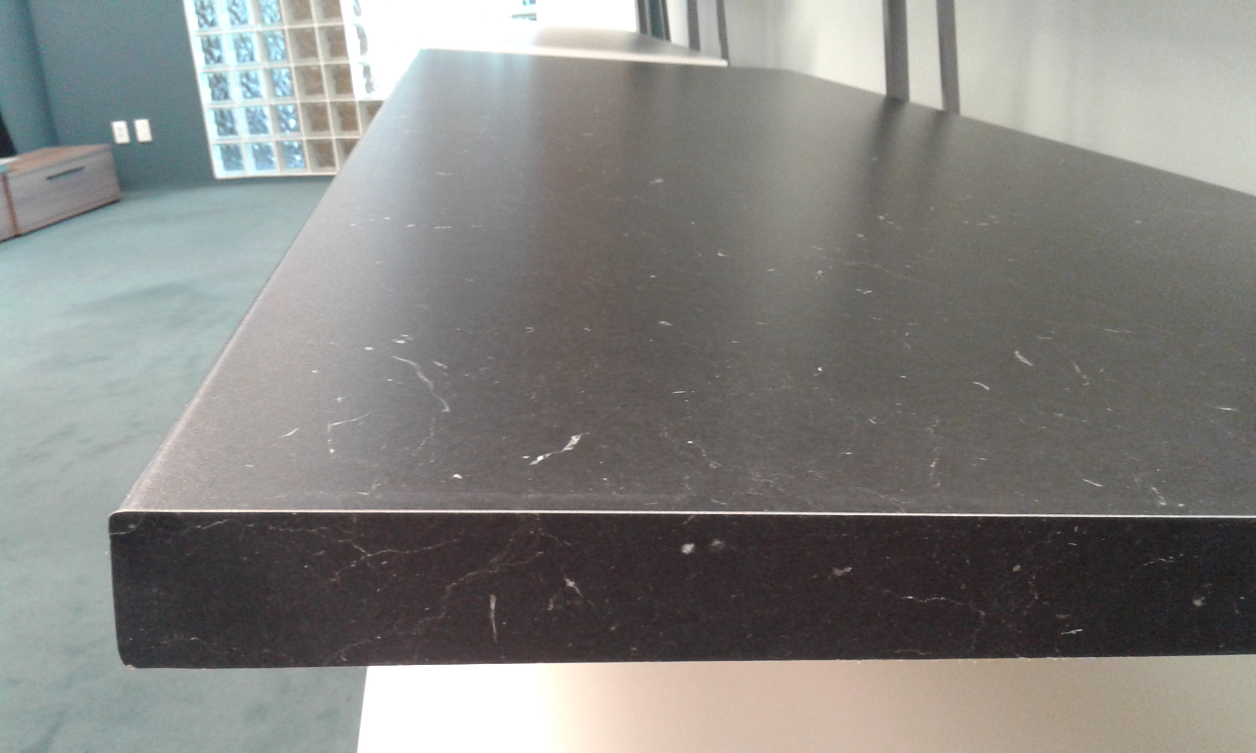 Black Marble Standard Bench top Front View