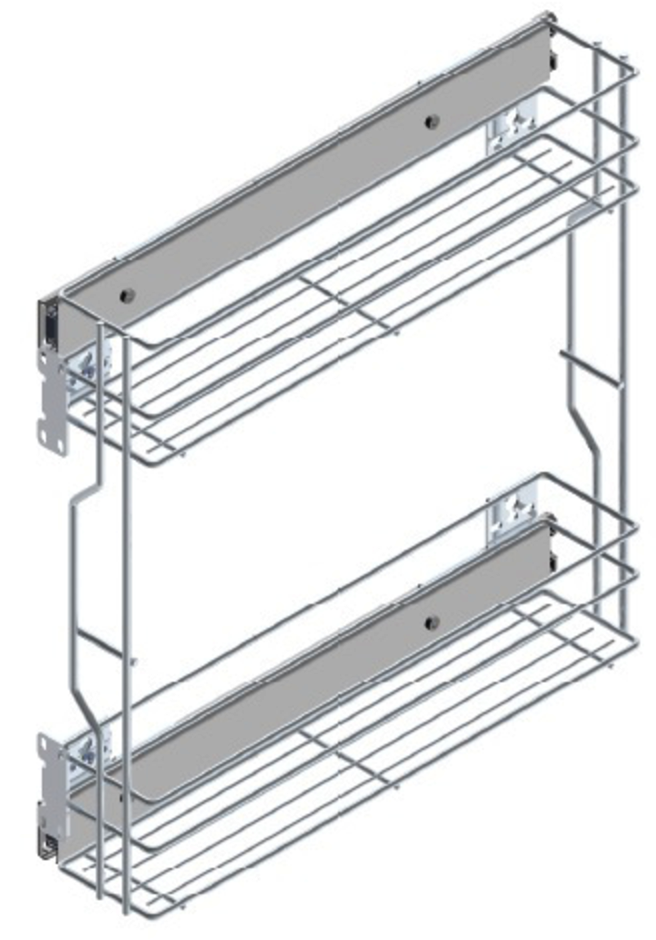 200mm Wide Base Cabinet Pull Out Baskets (Side Mounted) for