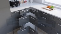 Corner Drawer Example - Charcoal Glossy