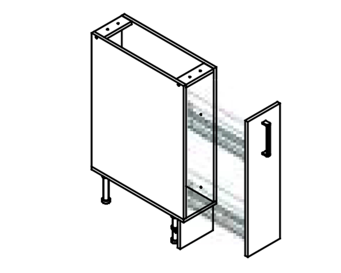 Body Diagram for Pull out cabinet S20C for Kitchen