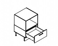 Body Diagram for Base Microwave Combo Cabinet for Kitchen