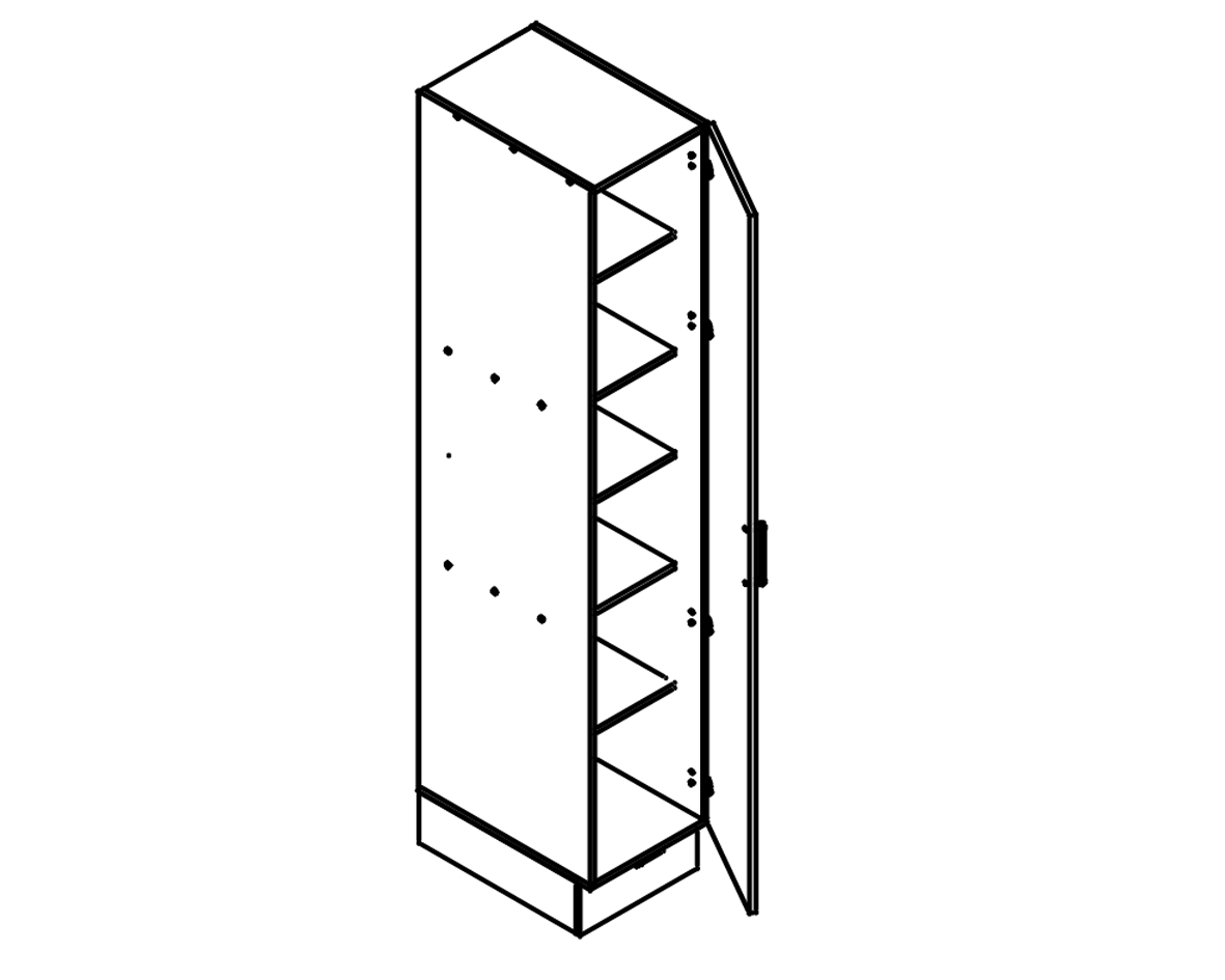 Body Diagram for Pantry S40PL/222/60/1D for Kitchen