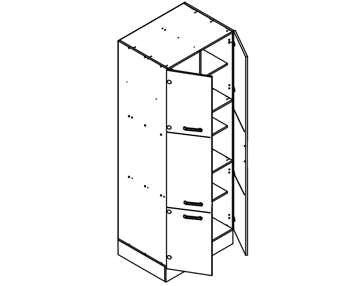 Body Diagram for Pantry S80/222/60/6D for Kitchen