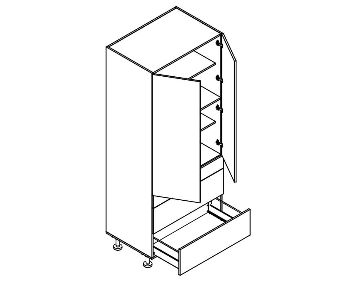 Body Diagram for Pantry S90/222/60/2DSZ3A for Kitchen