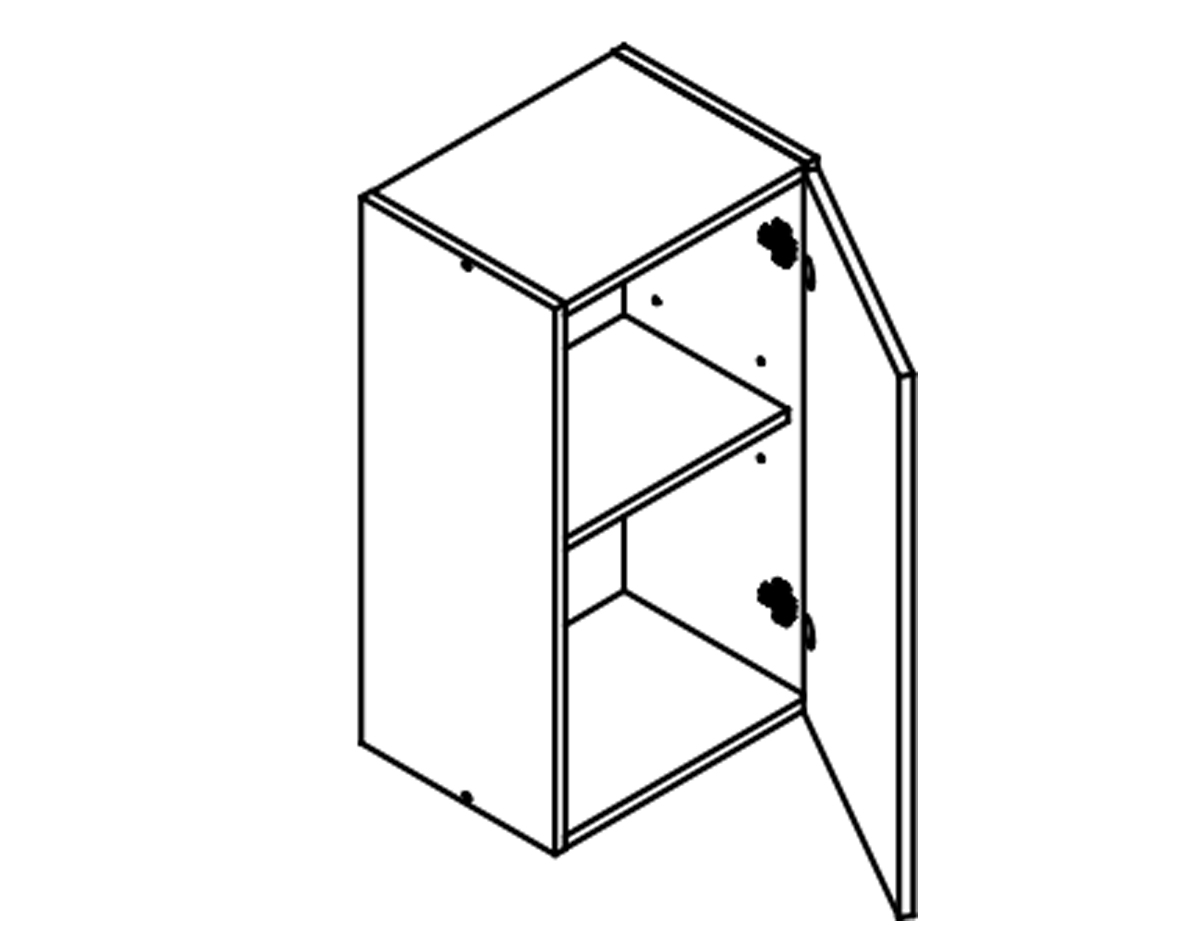 Body Diagram for Wall cabinet W45 for Kitchen