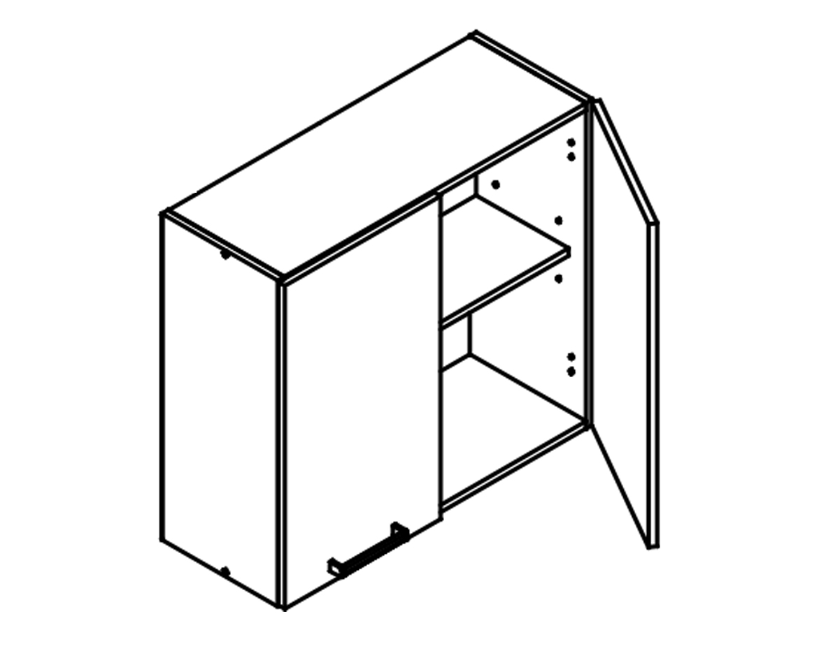 Body Diagram for Wall cabinet W80 for Kitchen