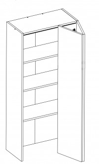 Body Diagram of On-Bench Pantry W60/132/TOP for Kitchen
