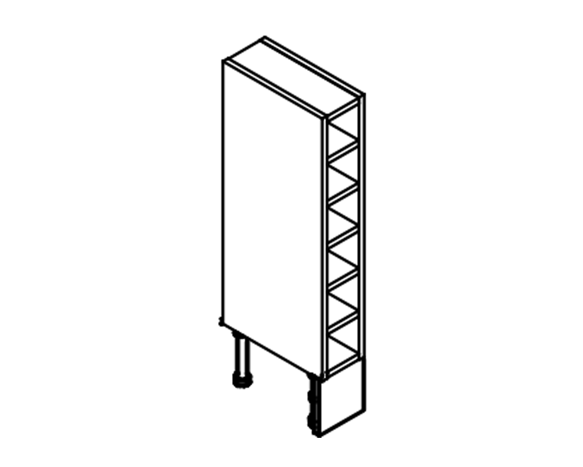 Body Diagram for Wine rack W13WIN72 for Kitchen