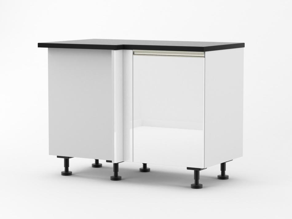 Venice - 1150mm wide Blind Corner Base Cabinet with 500mm wide Do