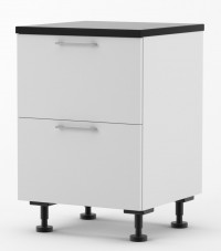 Milan - 600mm wide Two Drawer Base Cabinet with Top Hidden Drawer