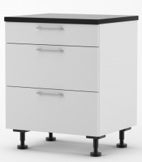Milan - 700mm wide Three Drawer Base Cabinet - with Blum Runners