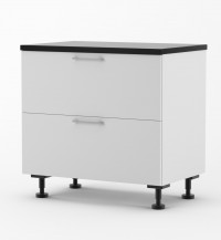 Milan - Doors for 900mm wide Two Drawer Base Cabinet with Top Hid