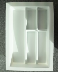 400mm wide Plastic Cutlery Insert for Kitchen Drawers