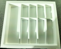 600mm wide Plastic Cutlery Insert 2 for Kitchen Drawers