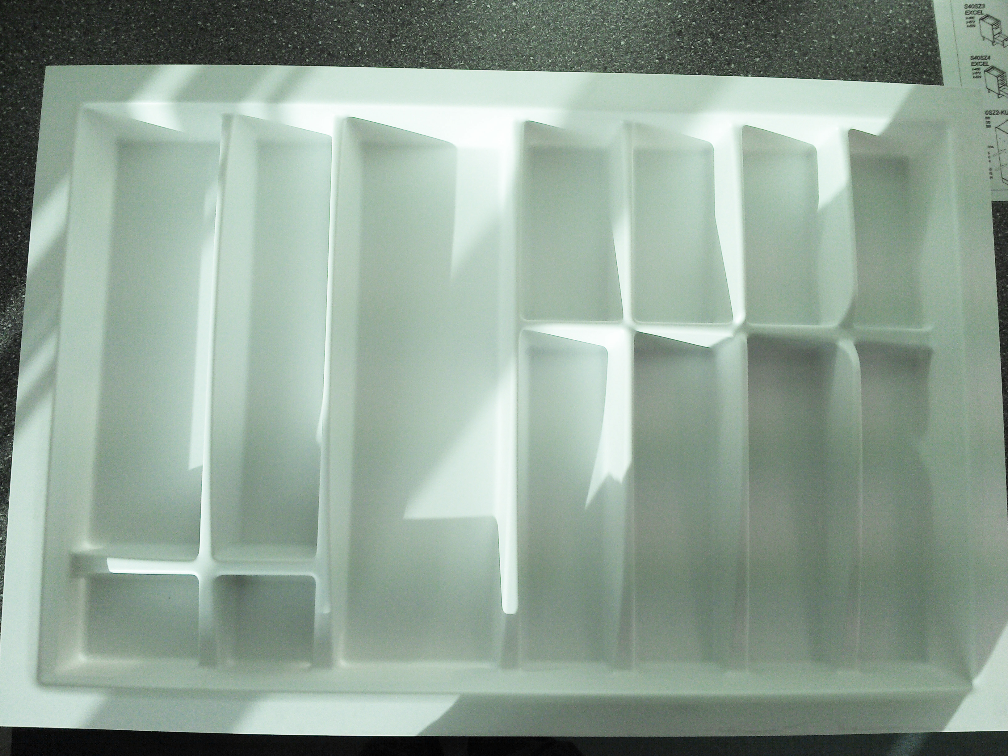 800mm wide Plastic Cutlery Insert 3 for Kitchen Drawers