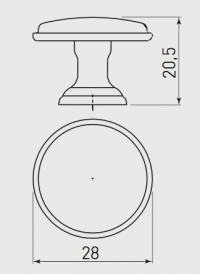 Handle GZ-CENTO-1-** Dimensions Image for Kitchen Planning