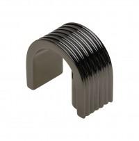 Black Chrome Veta Handle UZ-VETA-160-12 for Cabinets